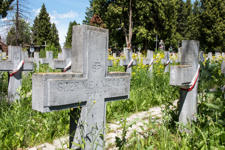 martyrdom: The graves of soldiers killed in the Polish-Soviet war from 1919 to 1920 in the cemetery in Chelm in eastern Poland