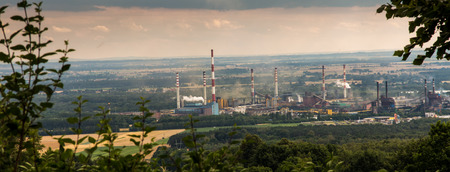 coking: The view of Mount St. Anna on Coke Plant Zdzieszowice in Poland