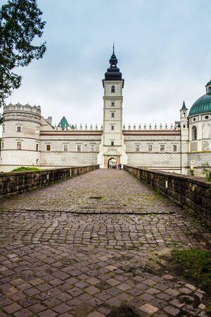 southeastern: Krasiczyn, Poland - July 17, 2016: Renaissance castle in Krasiczyn in southeastern Poland Editorial
