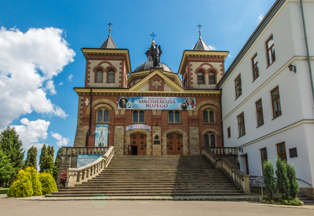 arrepentimiento: Miejsce Piastowe, Poland - July 22, 2016: Shrine of St. Michael the Archangel and the Blessed. Bronislaw Markiewicz in Miejsce Piastowe in Poland Editorial