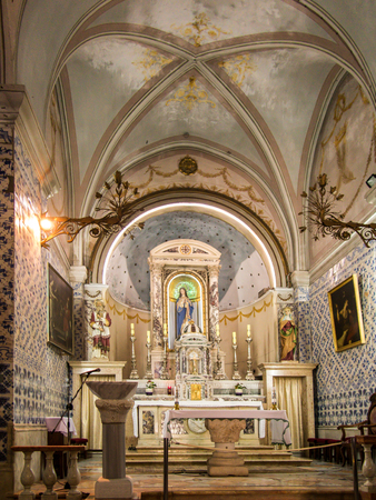 forerunner: Ein Karem, Israel July 16, 2015 r .: Church. John the Baptist, the forerunner of Jesus Christ, the traditional residence of St. Elizabeth and Zechariah, and the birthplace of John the Baptist. Ein Karem, Israel Editorial