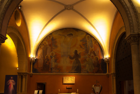 revelation: Paray Le Monial, France - September 13, 2016: Inside the chapel of the revelation of Jesus Margaret Mary Alacoque. Very important place for Catholics