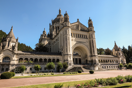 Basilica of St. Therese of Lisieux in Normandy France Imagens