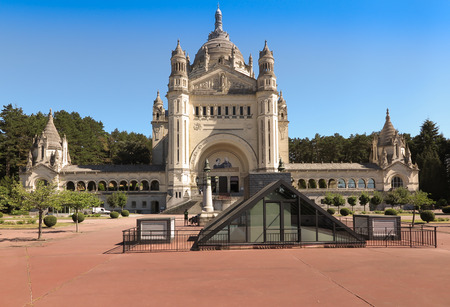 normandy: Basilica of St. Therese of Lisieux in Normandy France Stock Photo