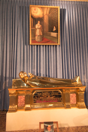 Paray Le Monial, France - September 13, 2016:  Shrine of St. Claude de la Colombiere in Paray-le-Monial, France, reliquary with the relics of St. Claudius