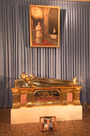confessor: Paray Le Monial, France - September 13, 2016:  Shrine of St. Claude de la Colombiere in Paray-le-Monial, France, reliquary with the relics of St. Claudius