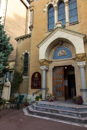 confessor: Paray Le Monial, France - September 13, 2016: Paray Le Monial, France - September 13, 2016:  Shrine of St.. Claude de la Colombiere in Paray-le-Monial, France