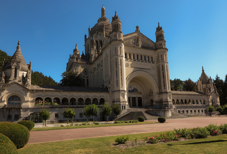 Basilica of St. Therese of Lisieux in Normandy France Editorial