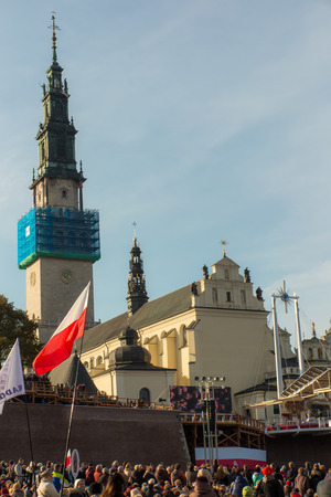 sins: Czestochowa, Poland - October 15, 2016: United Atonement, all-day prayer meeting people from all over Polish, who repented of his sins and his compatriots before the top Jasna Gora.