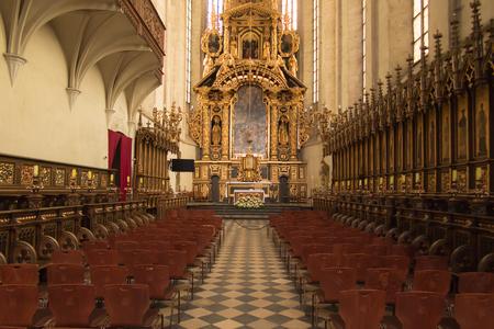 Krakow, Poland - October 2, 2016: The main altar in the church of St. Catherine in Krakow Editorial