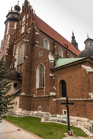 Corpus Christi basilica built in the Gothic style of the interior Baroque, Krakow, Poland
