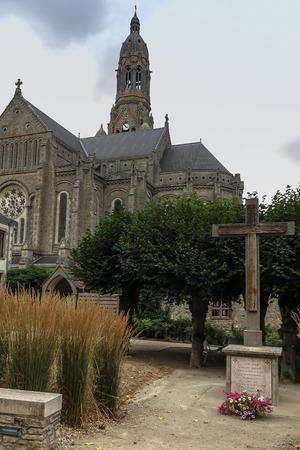 The Basilica of St. Louis de Montfort  at Saint-Laurent-sur-Sevre in the Vendee department, in the Pays de la Loire region in France Stock Photo