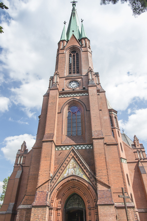 Cathedral church of Sts. Peter and Paul in Gliwice, Poland Stock fotó