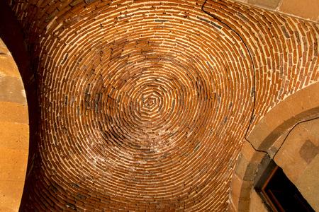 Vault of bricks above the entrance to the church of Martyr Saint Gayane in Echmiadzin, Armenia