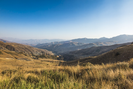 View of the mountains in the area of the Vardenyats pass (Selim Pass), Armenia.