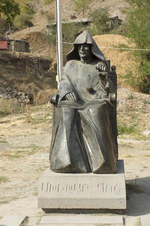 Armenia. The monastery complex Goshavank. Monument to the founder of the monastery Mkhitar Gosh