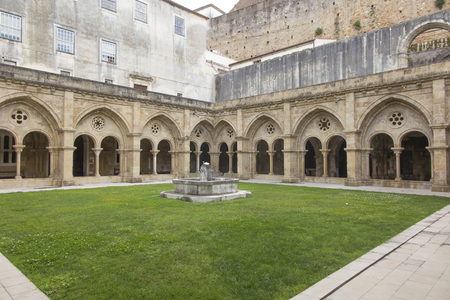 The Old Cathedral of Coimbra Portugal, (Se Velha de Coimbra).  Inner courtyard