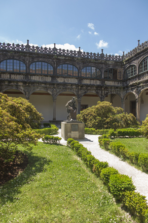 Part of the historic buildings of the University of Santiago de Compostela in Spain