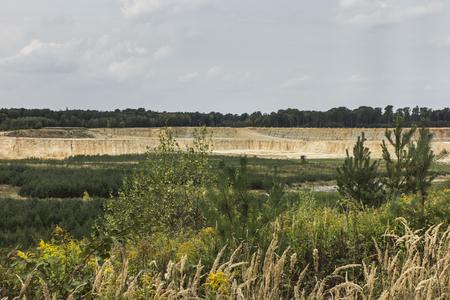 Limestone quarry in the area of the Gorazdze cement plant near Opole in Poland Stock Photo
