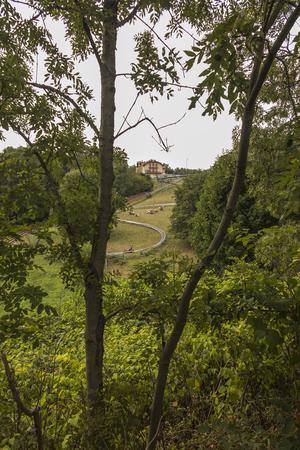 Gravitational slide, year-round toboggan run in Mount St. Anne, next to Opole, Poland,