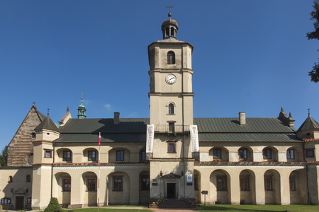 Cistercian abbey and church in Wachock in Poland 에디토리얼