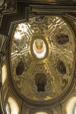 Kalwaria Zebrzydowska, Poland, 02 September 2018: Interior of the Chapel of the Virgin Mary in the monastery at Kalwaria Zebrzydowska, in Lesser Poland near Krakow