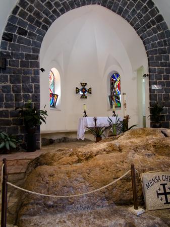 TABGHA, ISRAEL, July 9, 2015: Church of the Primacy of Peter, Tabgha, Israel