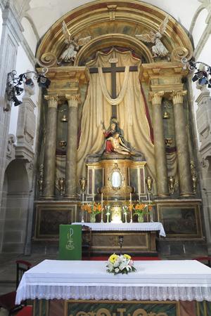 Santiago de Compostela, Spain, June 14, 2018: Interior of one of the churches in Santiago de Compostela in Spain