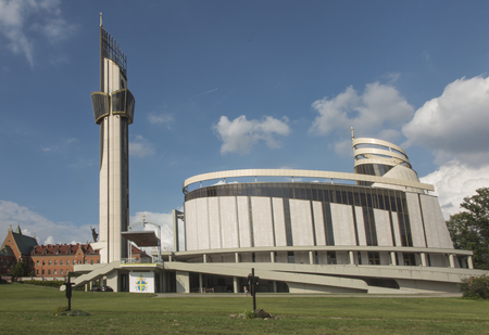 Sanctuary in Lagiewniki. Basilica of the Divine Mercy. Millions of pilgrims from around the world visit it every year.