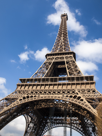 Eiffel Tower in the French capital of Paris