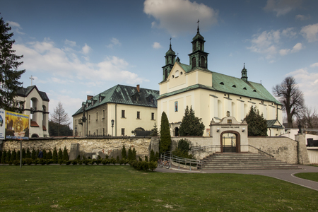 Sanctuary Mother of God in Lesniow, Poland, Silesia 写真素材