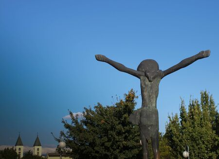 Jesus is resurrected, a monument to Medjugorje in Bosnia and Herzegovina near the places of the apparitions of Mary