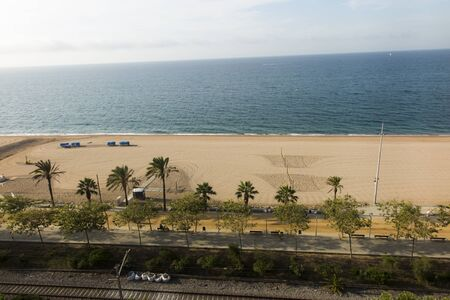 Beach in Calella on the Mediterranean near Barcelona in Spain