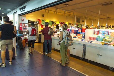 Frankfurt am Main, Germany, June 28, 2019. Passengers waiting for departures at the airport terminal in Frankfurt am Main, Germany