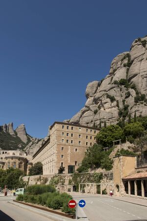 Abbey of the Mother of God in Montserrat - a male Benedictine monastery, located in the Montserrat massif in Catalonia, 40 km northwest of Barcelona known for worshiping the figure of the Virgin