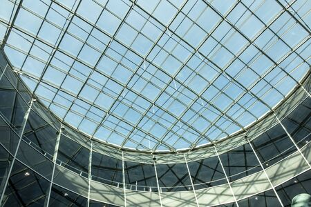 Detail of a glass roof construction (as a background) at the airport Frankfurt am Main, Germany