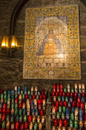 Sacrificial candles at the Benedictine Abbey of Our Lady in Montserrat, Spain