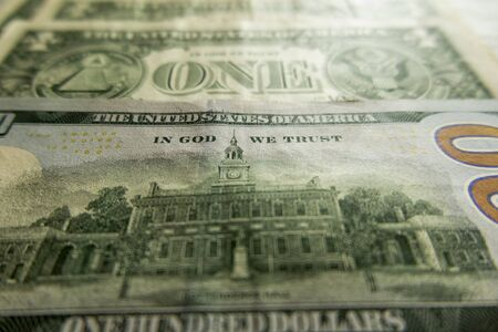 In God we trust - an inscription on American banknotes of various denominations