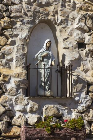 Figure of Mary, Mother of God in the sanctuary around the Carmel of the Holy Baby Jesus in Bethlehem in the Palestinian Authority. This place is associated, among others, with the stay of Mariam Baouarda or Saint Mary of Jesus Crucified