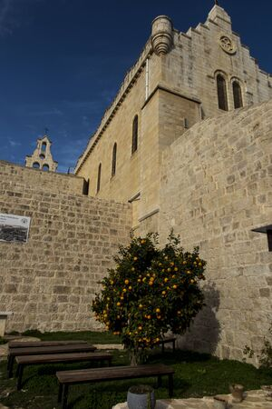 Carmel of the holy Child Jesus in Bethlehem. A place related, among others, to the stay of Mariam Baouardy or Saint Mary of Jesus Crucified 版權商用圖片