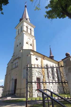 Church of st. Jakub in Saczow, Poland, in Silesia, which is on the route of two pilgrimage routes of St. James to Santiago de Compostela - Camino (Jasnogorska and Via Regia)