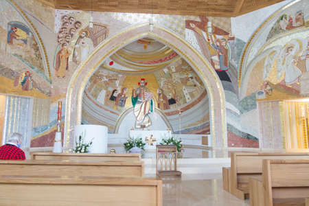 CzÄ™stochowa, Poland, June 23, 2020: Mosaic at the Shrine of Divine Mercy in the Valley of Divine Mercy at the Pallottine priests 新聞圖片