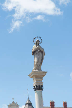 Statue of Our Lady of the Immaculate Conception in the middle of square in front of the monastery Jasna Gora Monastery - Czestochowa (sculpture Kamila Drapikowski)