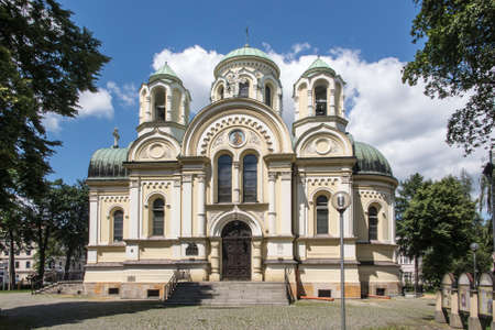 The church dedicated to Saint Jakub in Czestochowa in Poland, which is on the route of three pilgrimage routes of Saint. James to Santiago de Compostela in Spain - Camino (Old Polish, Jasna Góra, Czestochowa)