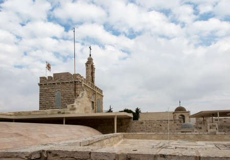 Roofs and terraces of buildings around the Basilica of the Nativity in Bethlehem in the Palestinian Authority 版權商用圖片