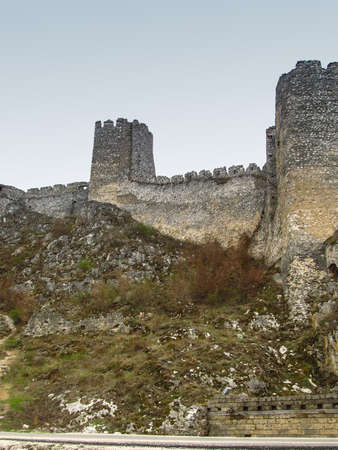 tower and the ruins of the castle Golubac in Serbia on the Danube