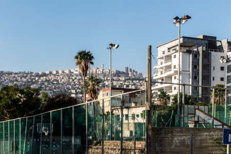 View of the city of Tiberias on the Sea of Galilee, part on the hill, Israel, January 26, 2020 新聞圖片