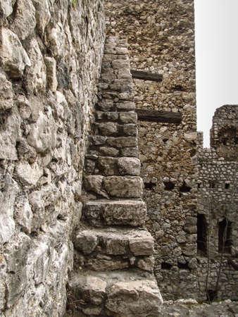 Golubac, Serbia, March 29, 2020: Golubac Fortress - 12th century castle located at the entrance of river Danube. North Serbia