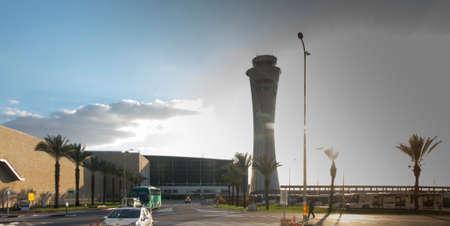 Tower at Tel Aviv airport (TLV) in Israel