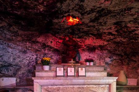 Haifa, Israel - January 26 2020: The Stella Maris Monastery, where houses the cave of Prophet Elijah.